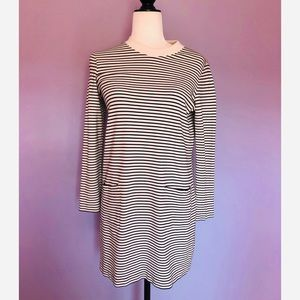 Club Monaco black and white striped shift dress